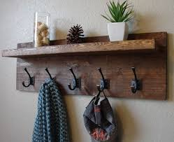 Rustic Coat Rack With Shelf Rustic Coat Hooks Weliketheworld 86