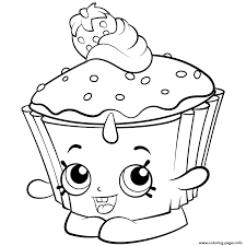 free colouring pages to print 2. Plain Print Exclusive Colouring Pages Cupcake Chic Shopkins Season 2 Coloring Pages On Free To Print O