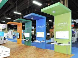 Convention Booth Design Straight Panel Trade Show Booth Design Ideas In 2020 Trade