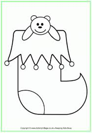 Small Picture Christmas Stocking Colouring Pages