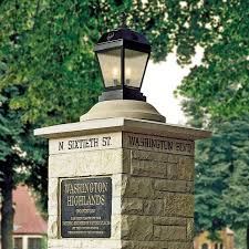 french outdoor lighting. french country exterior pier light for elegant landscape lighting in a historic neighborhood outdoor