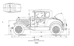 ford model a body dimensions  motor hem 30 31 coupe