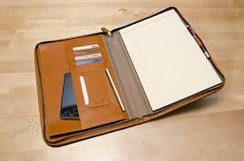 maruse leather padfolio executive leather writing portfolio doent holder business case made in italy