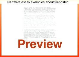 Narrative Essay On Friendship Personal Narrative Essay Topics For College Research Sample Paper