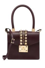 image of valentino by mario valentino arletty studded leather handbag