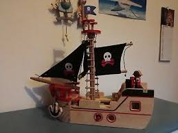 wooden toy pirate ship by asda