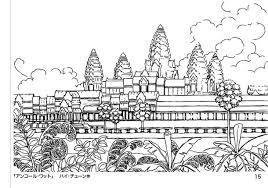 カンボジアをもっと好きになるみんなのぬりえリターン4