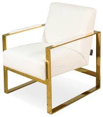 33 jacopo wynter chair leather vintage gold frame white crocodile leather contemporary armchairs and accent chairs by world bazaar