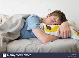 Teen boys sleeping last