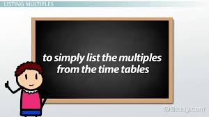 What Is A Multiple In Math? - Definition & Overview - Video & Lesson ...