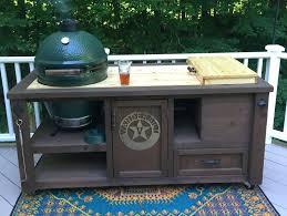 big green egg custom cooking island grill table for big green egg
