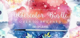 free watercolor brushes illustrator 85 watercolor freebies for graphic designers monsterpost