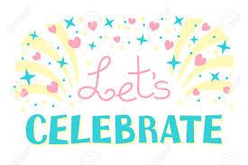 Lets Celebration Invitation Background On Party Time Vector