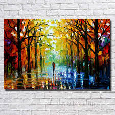 2018 wall hanging scenery painting modern living room decoration hand painted knife oil painting modern canvas art no framed from dafenoilpaintingyeah