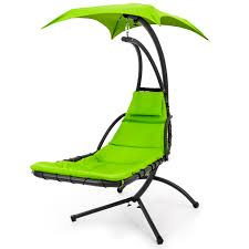best choice s outdoor porch hanging curved chaise lounge chair swing hammock w pillow