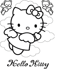 Help her with it coloring this beautiful picture! 35 Free Hello Kitty Coloring Pages Printable