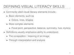 Visual Literacy Definitions Young Children And Visual Literacy Ppt Download