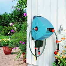 gardena wall mounted automatic retractable hose reel