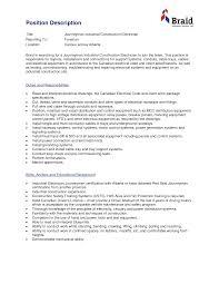 Industrial Electrician Resume Industrial Electrician Resume Samples Free Resumes Tips Inside Sales 1