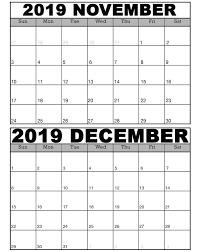 Make free printable calendars in pdf format for 2021, 2022 and more. November And December 2019 Calendar Template 2019 Calendars For Students Education November And December 2019 Calendar Template