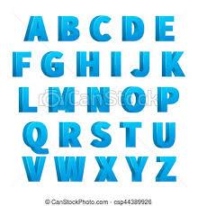 Blue Letters Ice Blue 3d Letters Characters Alphabet Lettering