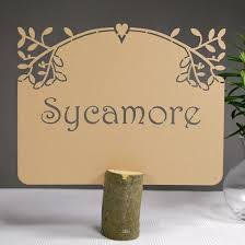 table names wedding. Personalised Laser Cut Wedding Table Name Cards - Sweet Almond (Each) Names D