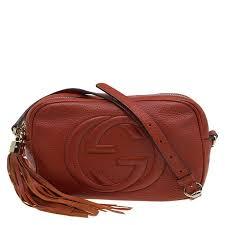gucci red orange leather soho disco cross bag nextprev prevnext