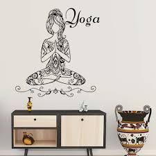 Diy Hohe Qualität Schöne Yoga Meditieren Pose Mädchen Wandaufkleber