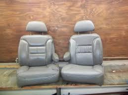 95 00 chevy tahoe yukon suburban leather bucket seat captains seat cushions seat frames no seat tracks