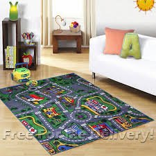 kids express city roads floor car play rug xl 200x300cm free delivery