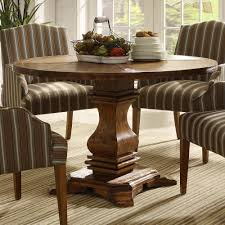 homelegance euro casual round pedestal dining table in rustic weathered