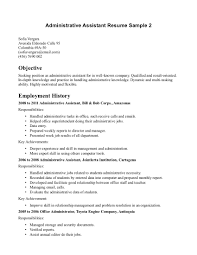 Executive Assistant Resume Objective Medical Objectives Examples