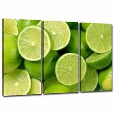 small lime green canvas wall art
