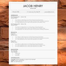 Original Resume Template Original ResumeCV Template Modern Resume And Cover Letter 96