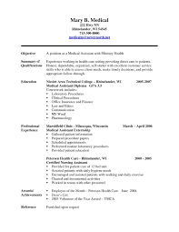 Sample Resume For A Certified Medical Assistant Refrence Certified