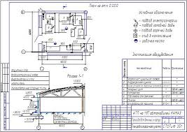 Технологическое проектирование АТП Привет Студент  Чертеж к курсовой работе Рис АТП на 197 автомобилей КАМАЗ