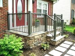 Cheap Porch Railing Ideas Front Home Design Railings Trends Concrete ...