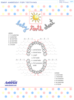 Freebie Printable Baby Tooth Chart All Paperblog