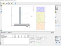Retaining Wall Structural Design Example Cantilever Wall Geotechnical Software Geo5 Fine