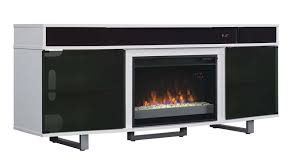 bell o enterprise cabinet with built in sound bar and fireplace