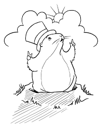 Small Picture Unique Groundhog Day Coloring Pages 43 About Remodel Coloring