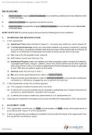 Independent Contractor Agreement Template Free Trader Agreement Nc Template Parsyssante