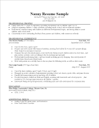 Nanny Job Responsibilities Resume Resume Sample For Nanny Babysitter Housekeeper Nannycaregiver List 9