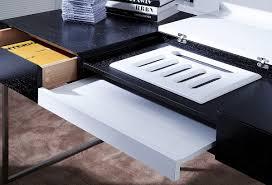 office desk walnut. Modrest Ezra Black Gloss And Walnut Office Desk W/ Side Cabinet By VIG - L\u0027angolo Furniture \u0026 Art