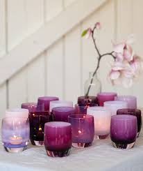 hand blown glass votive candle holders and drinking glasses in hundreds of colors made in the usa