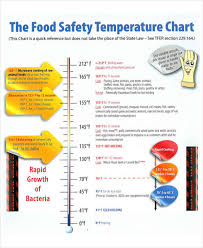 Printable Food Temperature Chart Temperature Chart Templates 7 Free Samples Examples