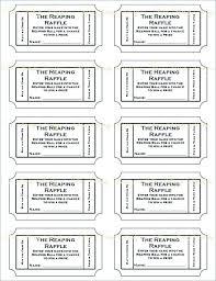 Free Ticket Template Printable Wonderful Blank Raffle Ticket