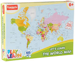 buy funskool world map puzzles online at low prices in india