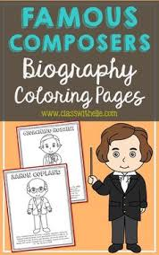 10 famous posers coloring page crafts or posters with informational text