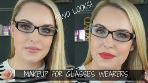 makeup for gles wearers two looks 4 diffe frames elle leary artistry
